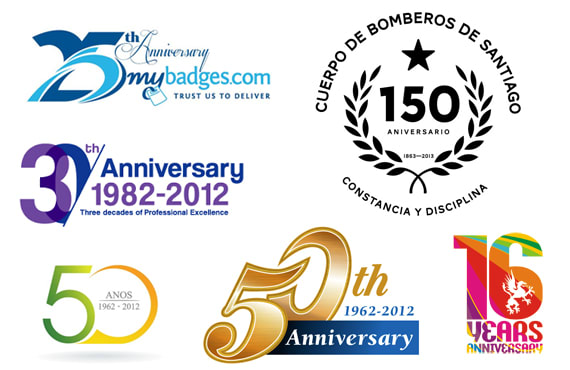 design anniversary logo of