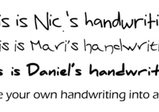 Turn your handwriting into a font by Rejoice