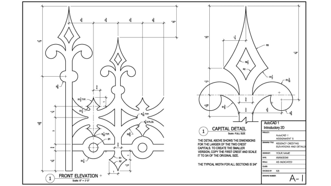 Autocad 2d Projects For Mechanical With Dimensions