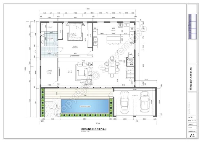 Make architectural drawings in autocad by Sanverma96