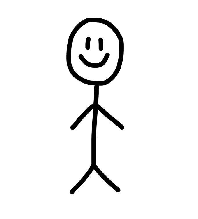 Make a hand drawn stick figure portrait by Jonnymartin509