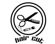 hair cut barber logo wantyhaa