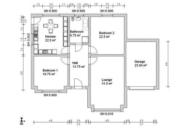 Do your architectural floor plan in autocad by Delowar_dell