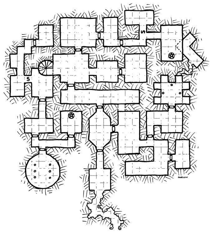 Draw dungeon maps for your campaign or project by Owellow