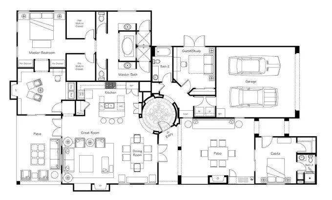 Draw your detailed 2d architectural plans in autocad by