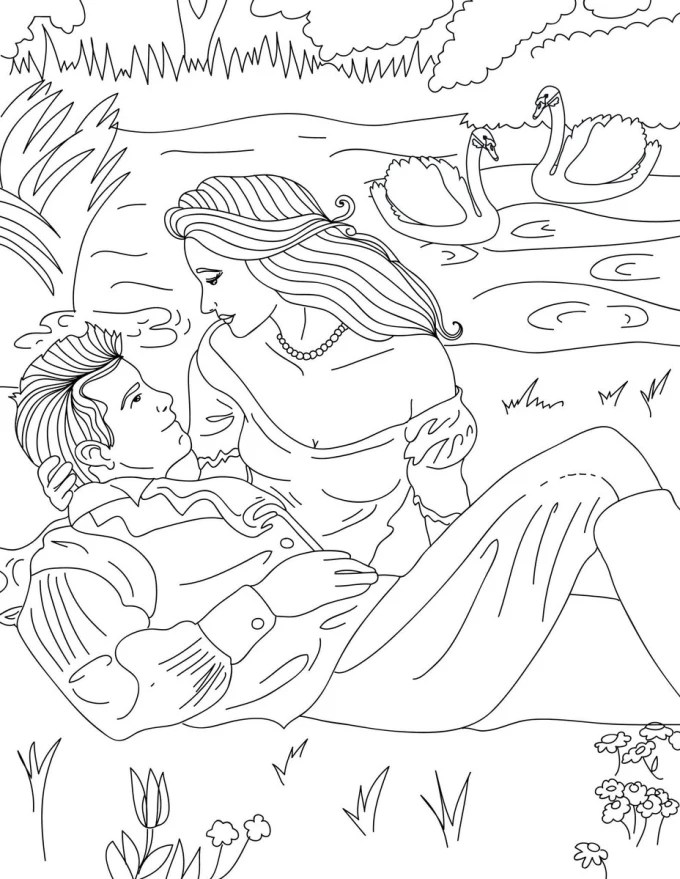 Turn your image or book cover into coloring page by Tayyaba24