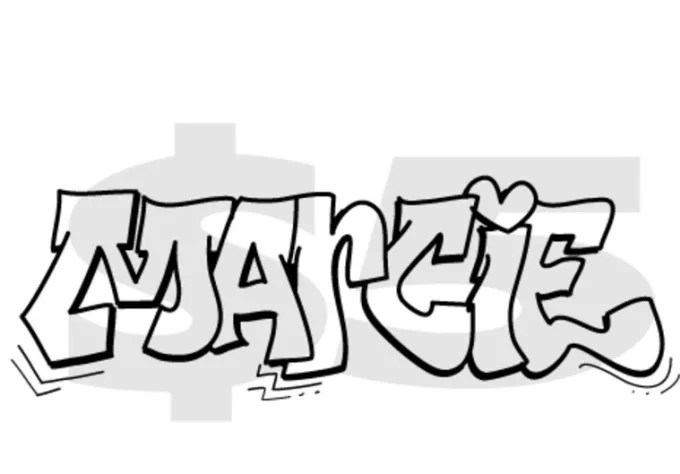 Draw custom graffiti with the word of your choice by