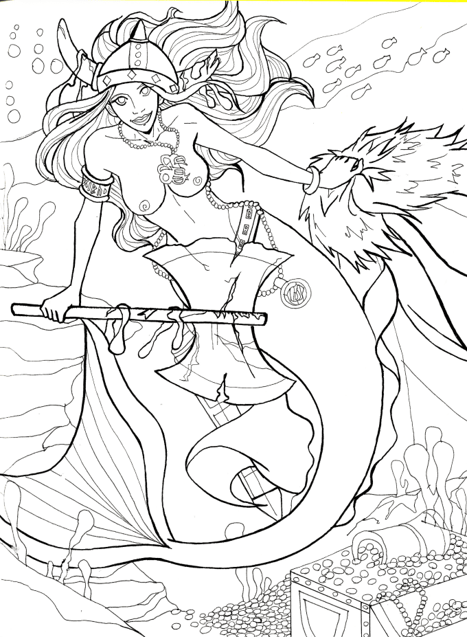 Draw an awesome coloring book page by Danielasyreen