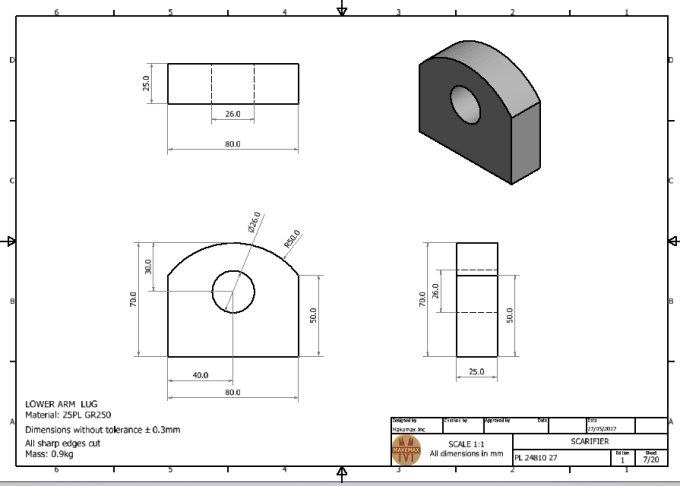 Do detailed 2d and 3d isometric and orthographic drawings