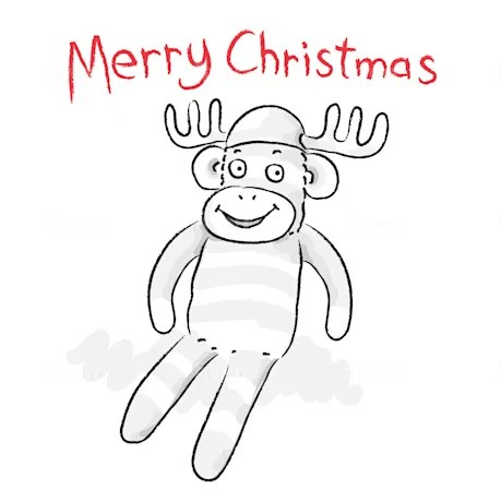 Draw a cute and funny christmas card by Jbadrawings