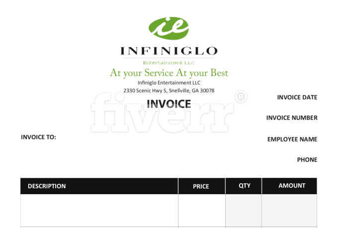 Design invoice template and letterhead by Gbcreator