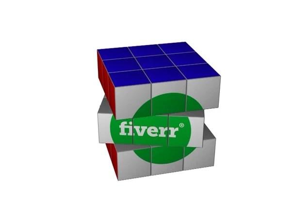 create rubik cube logo