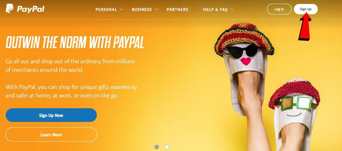 hướng dẫn tạo tài khoản paypal 1