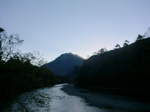 夕方の焼岳