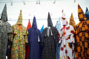 An artist's slavery relics and reimagined KKK robes show us the reality of systemic racism