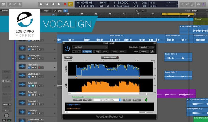 Use VocAlign Project From SynchroArts To Quickly Line Up The Timing of Vocal Tracks With Only A Few Mouse Clicks