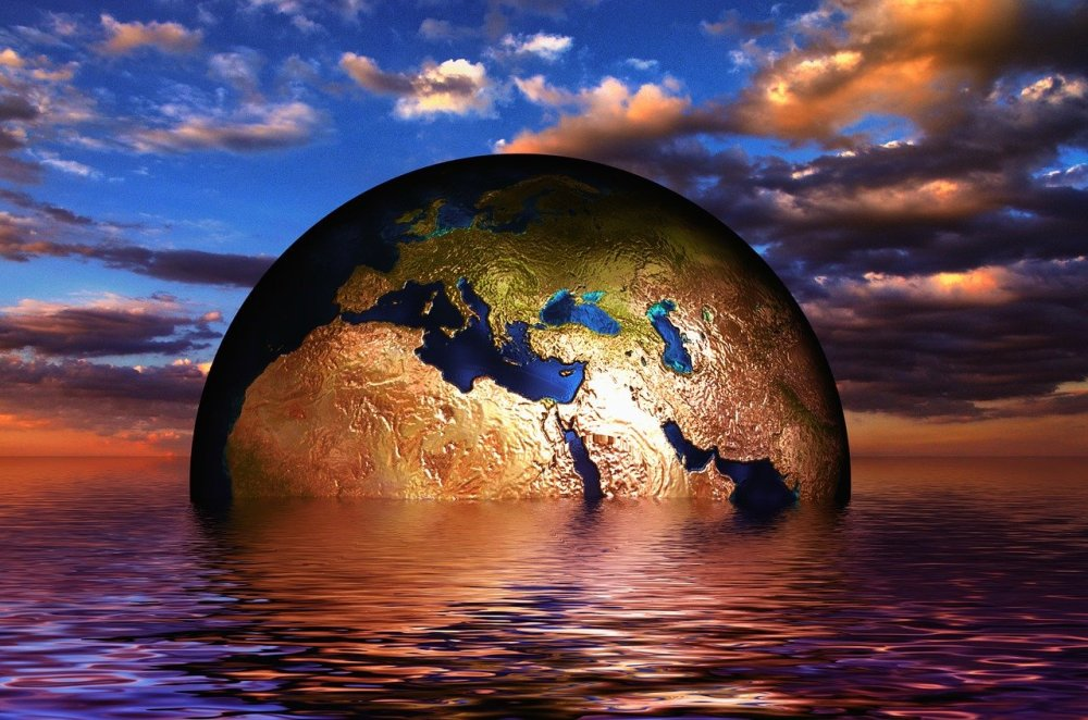 earth, globe, water