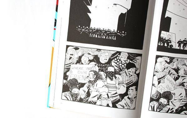 Pages from The Hard Tomorrow depicting Hannah in a state of uncertainty following an attack on the activists.
