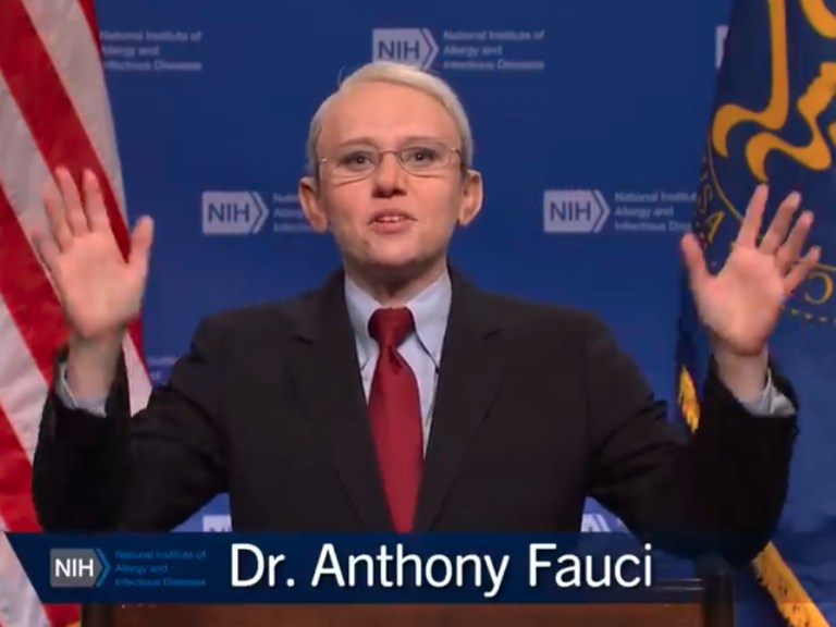 """""""Get the vaccine and enjoy life with no masks"""": Kate McKinnon returns as SNL's Dr. Fauci"""