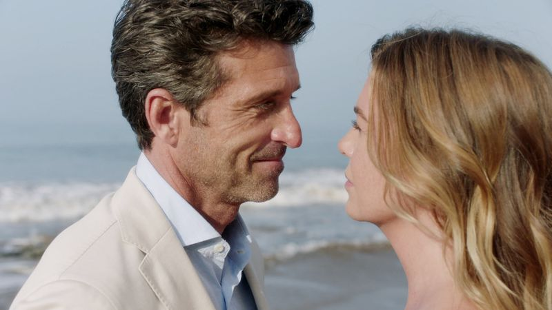 Meredith and Derek part ways with a fond farewell on the mystical beach.