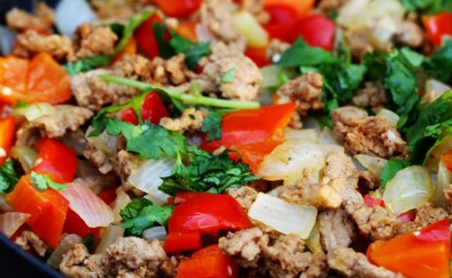 Ground Turkey Dinner With Peppers And Onions Five Silver