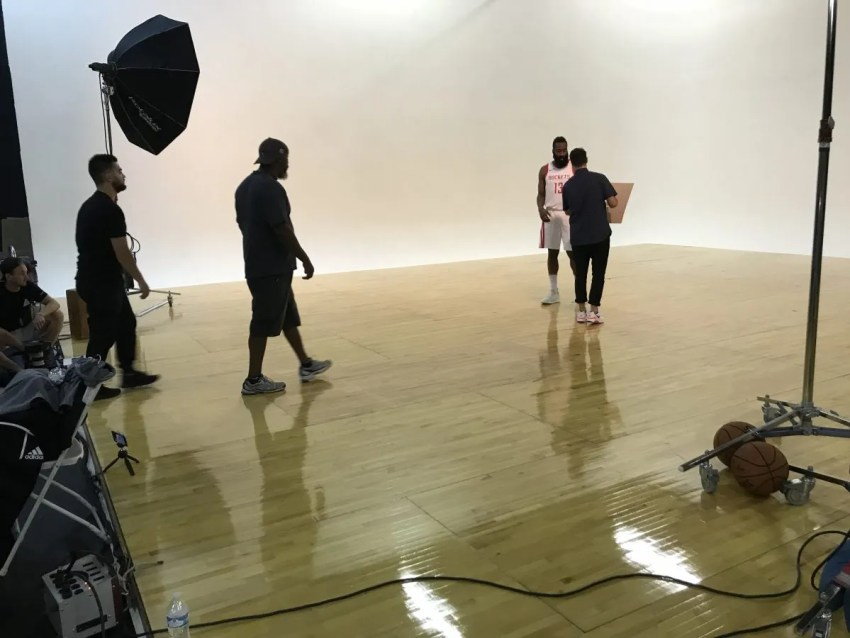 James Harden in studio in Las Vegas, NV.