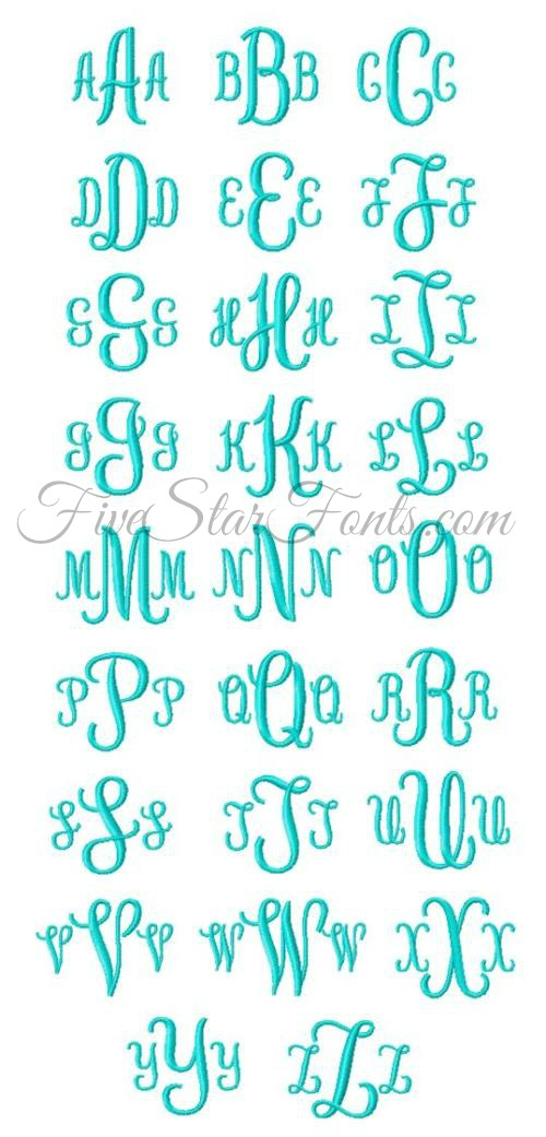 Applique Monogram Circle Font