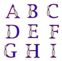 Bowling Monogram Font 14 - EXCLUSIVE