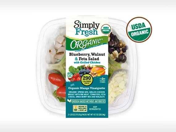 ORGANIC Blueberry, Walnut,<br>Feta Salad w/Chicken