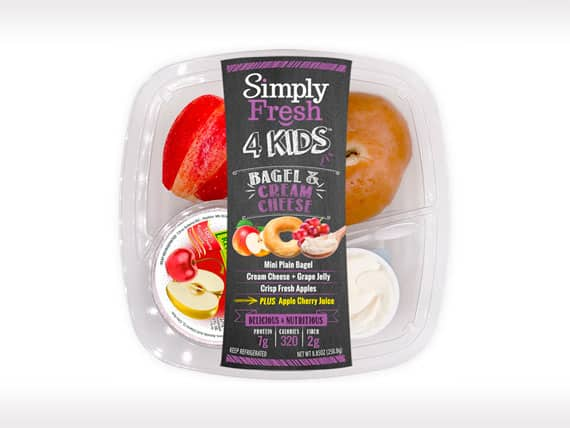 Kid's Meal<br>Bagel & Cream Cheese