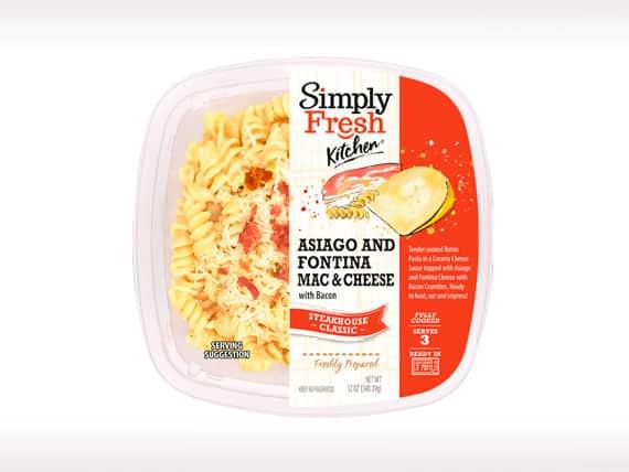Asiago and Fontina Mac & Cheese w/Bacon