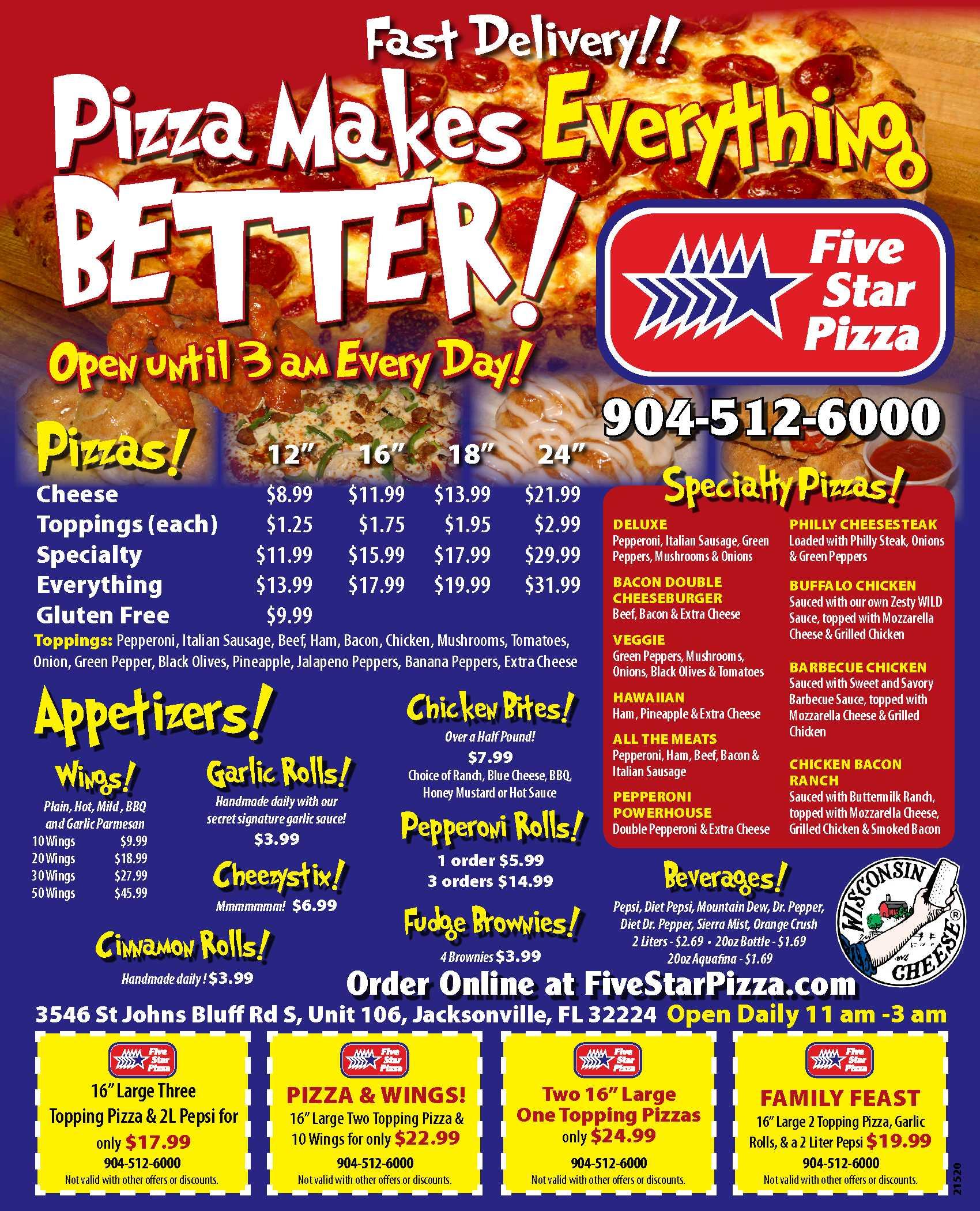 UNF - Town Center   Five Star Pizza