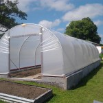 polytunnel with base plates