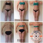 Body transformation client Jamie's 12 week progress