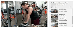 Workout playlist example from Five Starr Physique