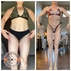 FSP client Amber on day 1 and 1 week out from her first show