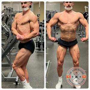 My client Bryce, 1 day out from his stage debut and the NPC Ironman Natural in Washington state