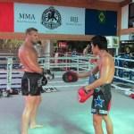 Nathan Corbett at Fairtex gym in Pattaya, Thailand.