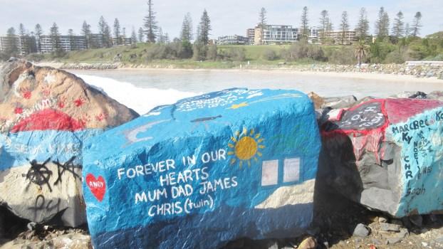 Painted-Rock-Art-Port-Macquarie-NSW-Australia-beach-river