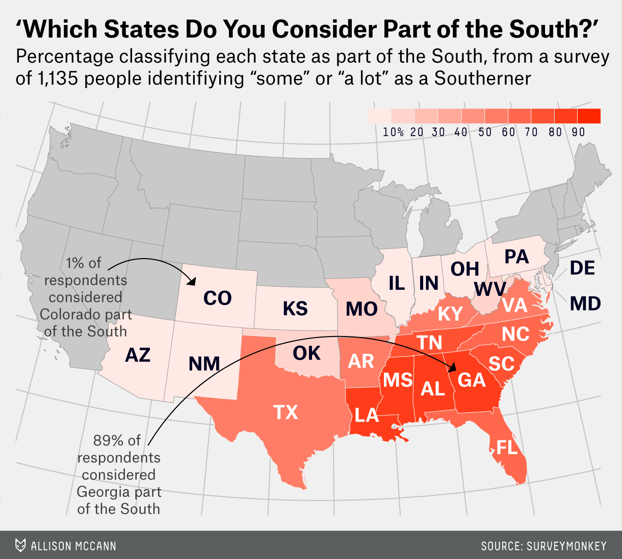 Which States Are In The South