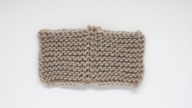 How to sew side seams in garter stitch