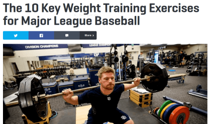 The Writer Sarah Toland Went Right To Source And Spoke With Major League Trainers Get Some Of Their Most Unique Beneficial Exercises