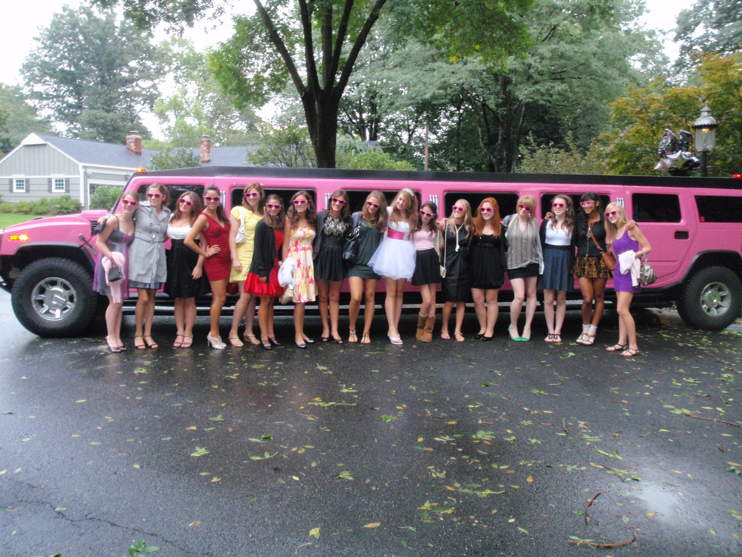 Rent a Pink Hummer Limo in NYC for a 16th Birthday Party