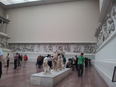 The reconstructed Pergamon Alter is so overwhelming that I joined the many people sitting on benches just to pause and see it all.