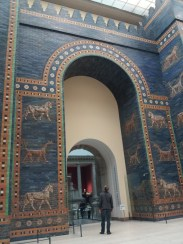When you walk through the Market gate and turn back you see the Ishtar Gate. This was the eighth gate to the inner city of Babylon constructed in about 575 BC.