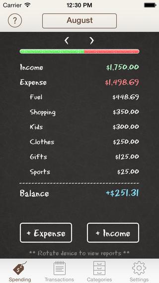 spending tracker, apps, saving