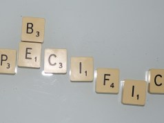 scrabble, specific, be specific