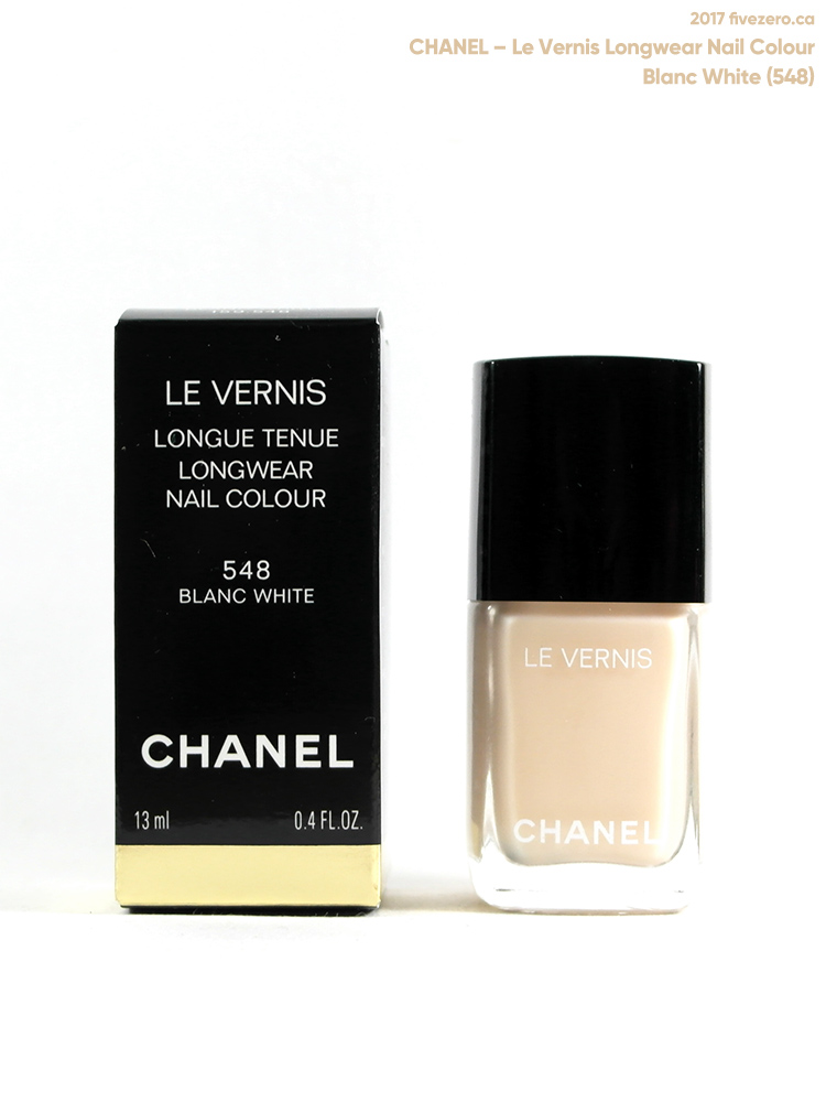 Chanel Le Vernis Longwear Nail Colour in Blanc White (548)