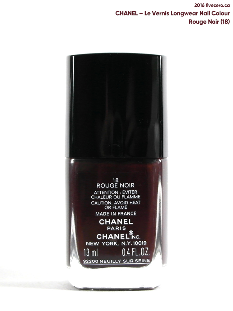 Chanel Le Vernis Longwear Nail Colour in Rouge Noir (18)
