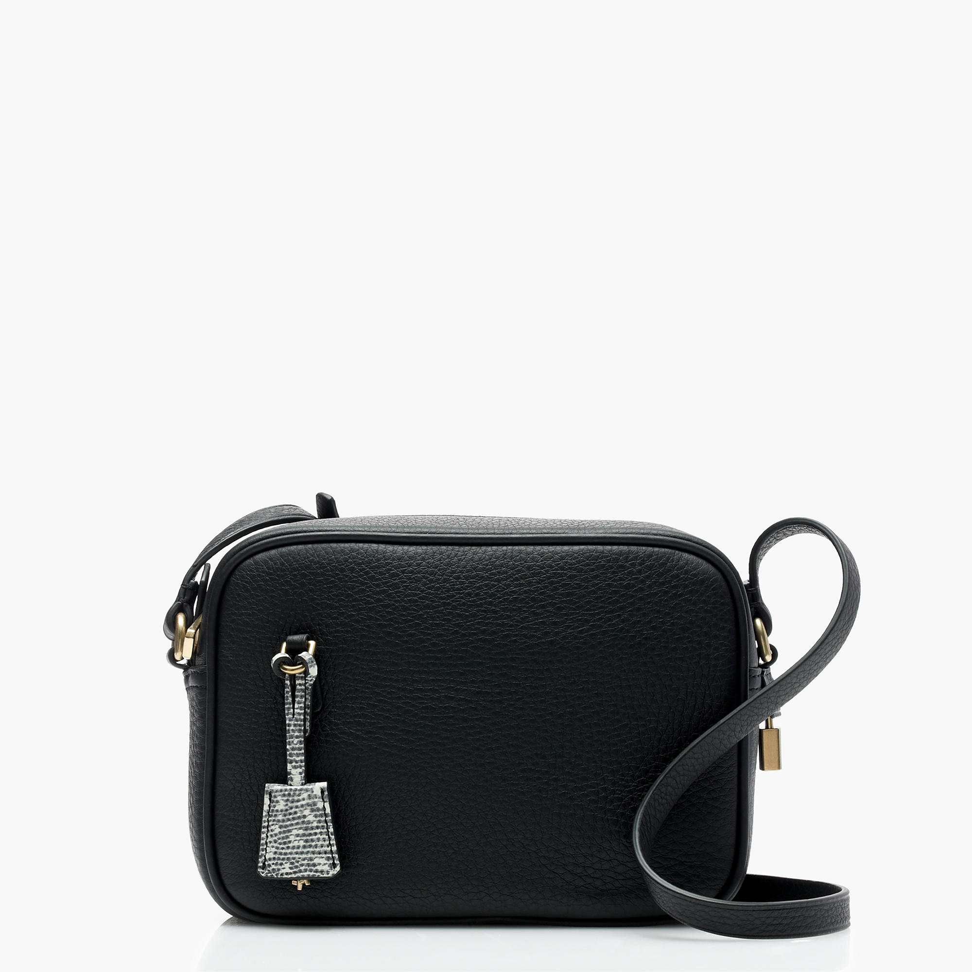 J.Crew Signet Bags in Italian Leather, Black